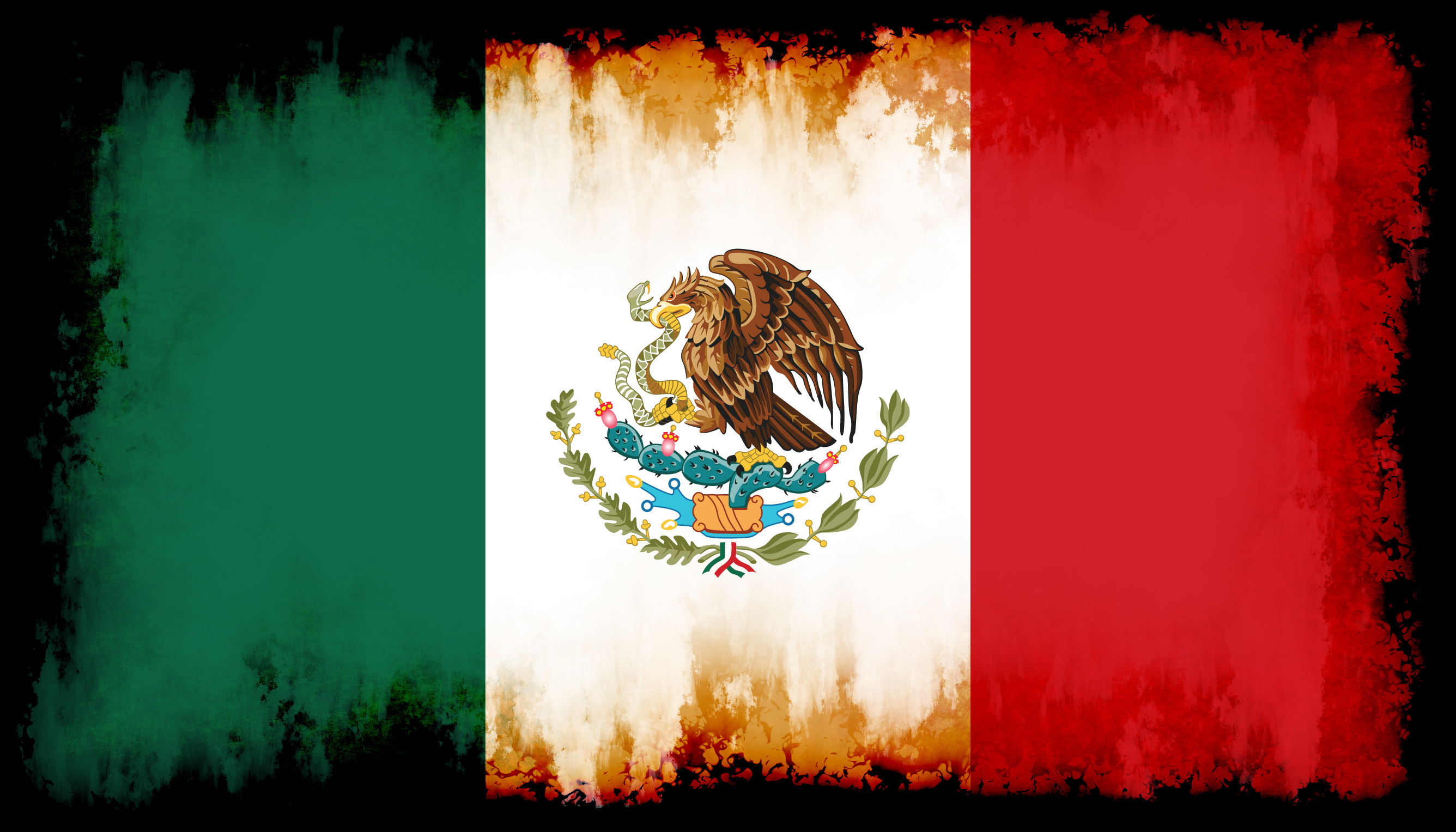 mexican flag inside black frame public domain photos