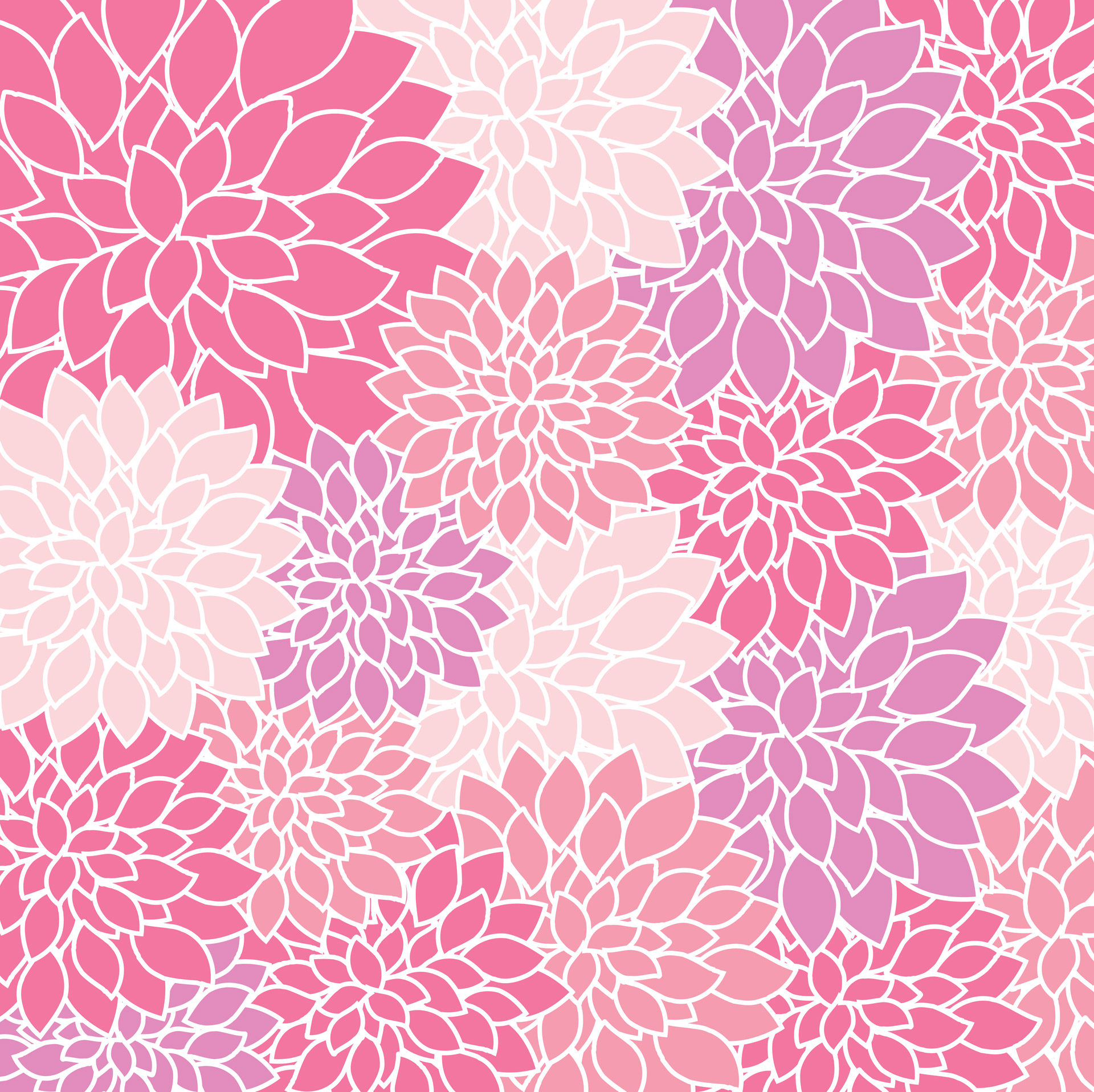 Seamless Watercolor Floral Pattern On A White Background Download