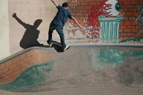 Skater on the wall