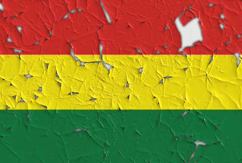 Bolivian flag with holes