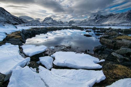 Fondo Del Laghetto Di Montagna Neve Sfondi Gratuiti