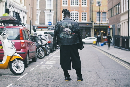 Man in Brewer Street, London, United Kingdom