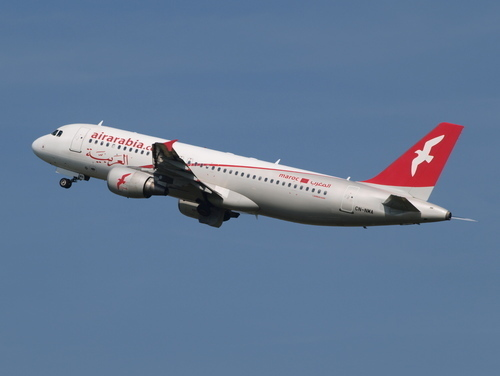 Air Arabia Maroc Airbus A320 in the air