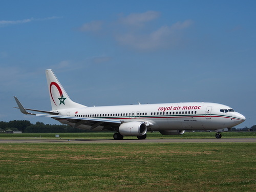 Royal Air Maroc Boeing 737 on runway