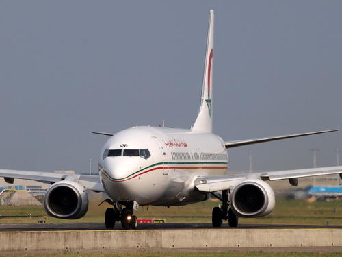 Royal Air Maroc Boeing 737 taxiing on a runway