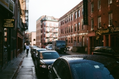 Parked cars in Boston street
