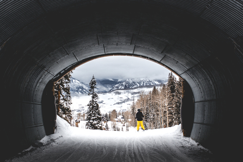 Colorado snow tunnel