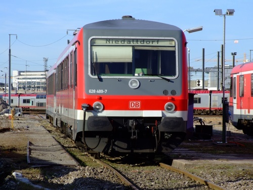 German train at Luxembourg railway station