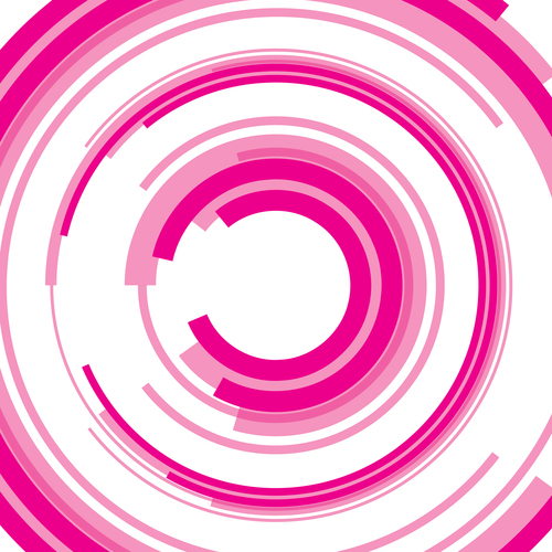 Abstract background pink semicircles