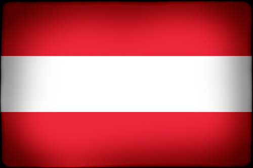 Flag of Austria with black frame