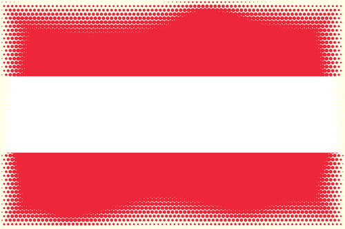 Flag of Austria with halftone pattern