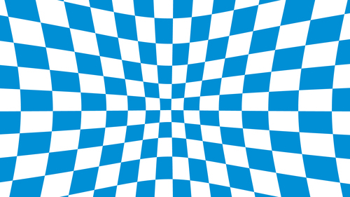 Blue checkered illusion