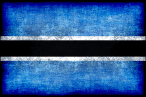 Flag of Botswana with grunge effect