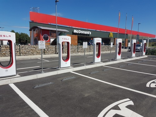 Tesla charging station near Maribor