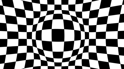 Checkered spherical background