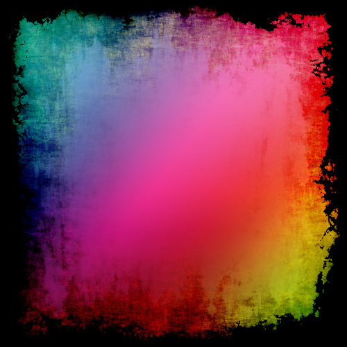 Colorful background with black frame