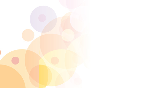 Colorful circles on white background