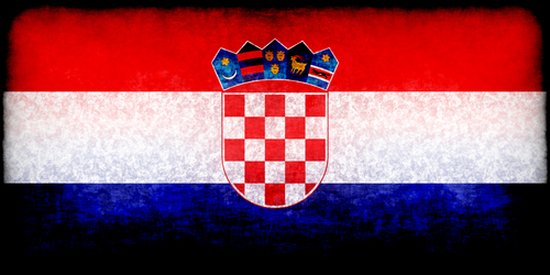 Croatian flag with grunge effect