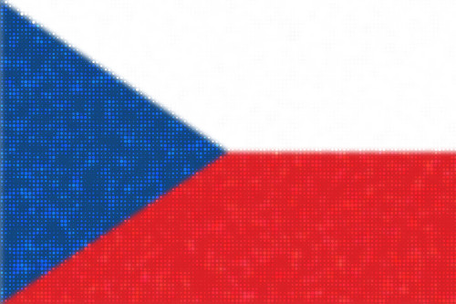 Czech flag in dotty style