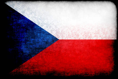 Flag of Czech Republic in grunge style