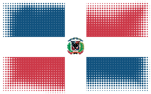 Dominican Republic flag in halftone