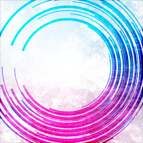 Abstract color lines graphics