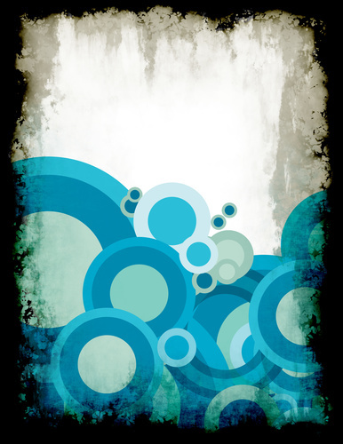 Blue circles with black frame