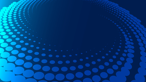 Halftone on blue background