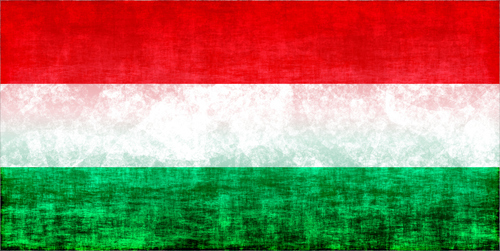 Hungarian flag with stains