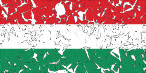 Hungarian flag with holes