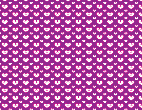 Purple seamless pattern with hearts
