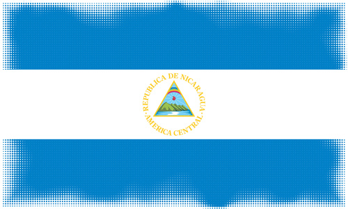 Nicaraguan flag in dotty pattern