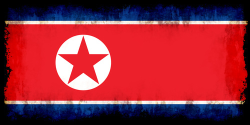 North Korea flag graphics