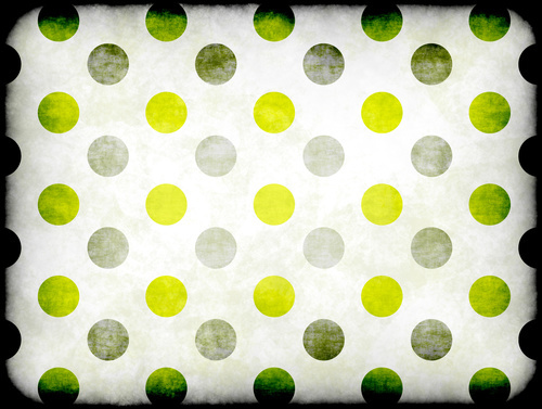 Abstract polka pattern retro style