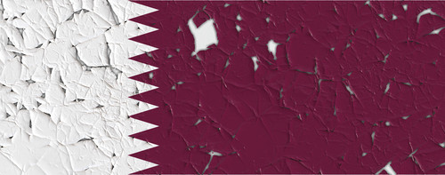 Flag of Qatar with holes