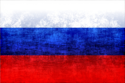 Russian flag with grunge texture