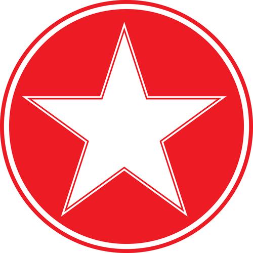 white star inside red circle public domain photos