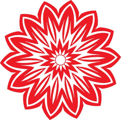 Tribal Flower Red Color Public Domain Photos