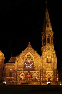 Lighted Church