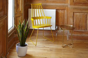 Yellow chair and the plant