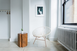 Modern chair in a corner of the room