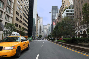 New York Taxi On A Street