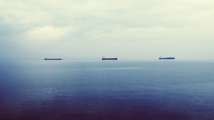 Three tankers in the distance