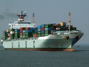 Cargo vessel carries cargo