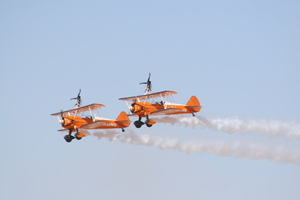 Breitling wing walking on airshow