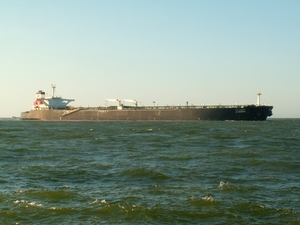 Oil tanker on the sea