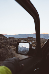 Rear view mirror of a car