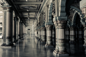 Hall with big pillars