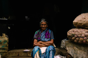 Old woman in India