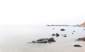 Seashore with rocks